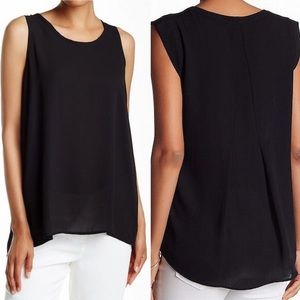 PLEIONE (Nordstrom) Black Pleated back. Blouse/Top